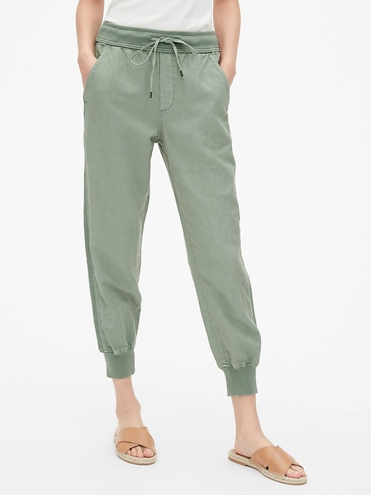 Drawstring Joggers in Linen