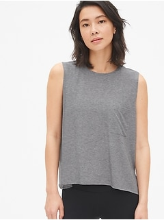 GapFit Breathe Pocket Tank Top