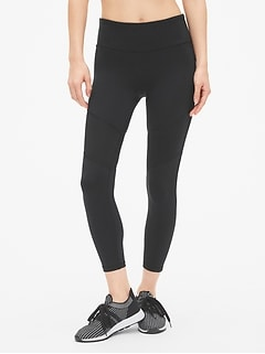 GapFit Textured Spliced 7/8 Leggings in Eclipse