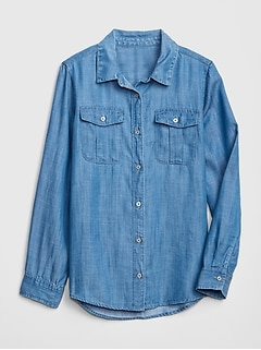 Kids Denim Long Sleeve Shirt
