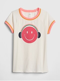 Kids Graphic Ringer T-Shirt