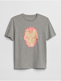 GapKids| Marvel Flippy Sequin Short Sleeve T-Shirt