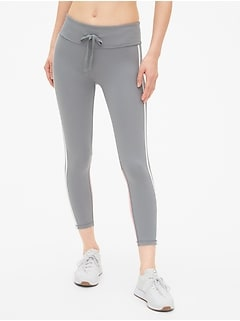 GapFit Blackout Drawstring Colorblock 7/8 Leggings