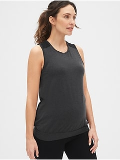 Maternity GapFit Breathe Mesh-Insert Tank Top