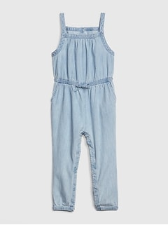 Toddler Denim Tank Jumpsuit