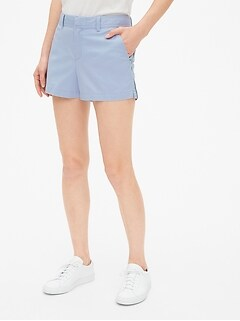 "Mid Rise 3"" Embroidered City Shorts"