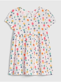 Baby Print Short Sleeve Dress
