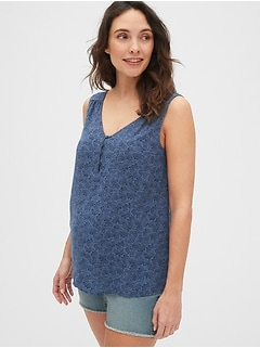 Maternity Button-Front Tank Top