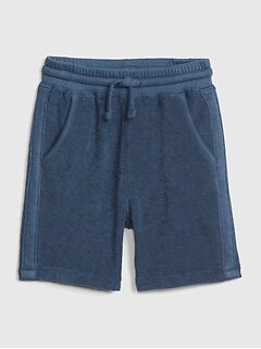 Textured Terry Pull-On Shorts