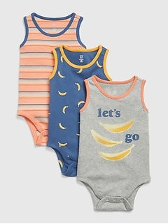 Baby Banana Bodysuit (3-Pack)