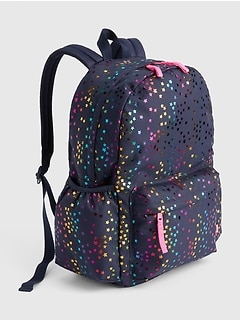 Kids Foil Star Senior Backpack