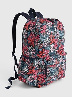 Kids Floral Senior Backpack