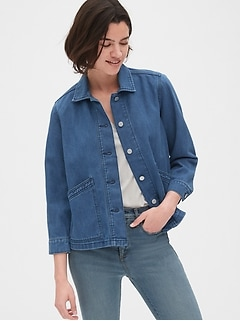 Denim Swing Jacket