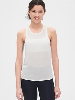 GapFit Burnout Stripe Tie-Back Tank