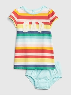 Baby Gap Logo Stripe Dress