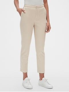 High Rise Slim Crop Pants