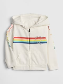 Toddler Gap Logo Stripe Hoodie Sweatshirt