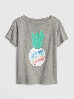 Kids Flippy Sequin Short Sleeve T-Shirt