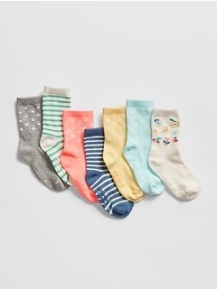 Toddler Print Crew Socks (7-Pack)