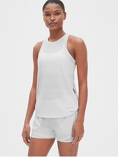 GapFit Mesh Tank with Twist Detail