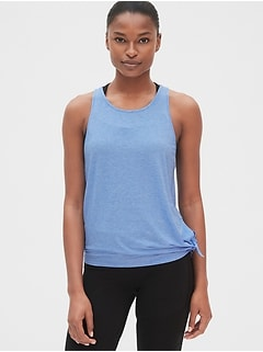 GapFit Breathe Side-Tie Mesh Panel Tank