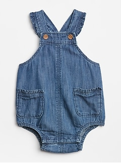 Baby Denim Overall One-Piece