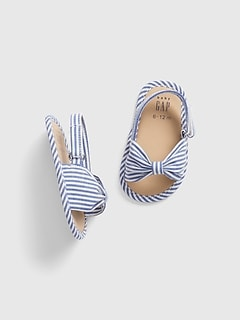13542ac1eb2 Baby Stripe Bow Sling Sandals