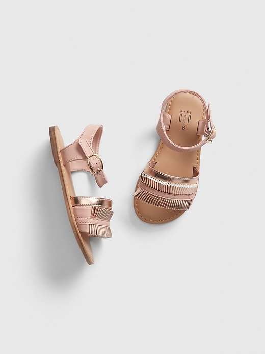 Toddler Metallic Pleated Sandals