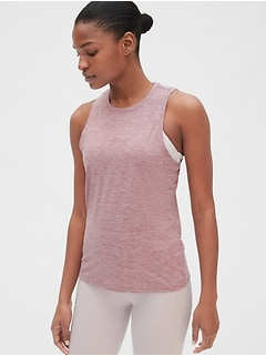 GapFit Brushed Tech Jersey Tank