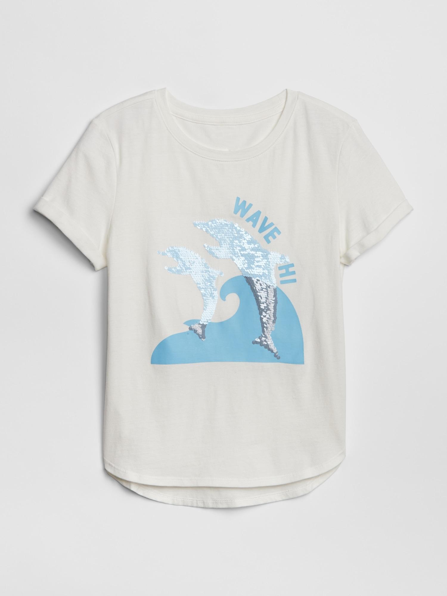 a86da164e Kids Flippy Sequin Graphic T-Shirt | Gap
