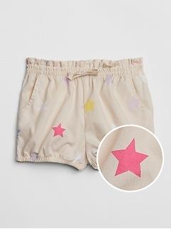 Swiss-Dot Bubble Shorts
