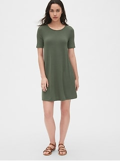 Softspun Short Sleeve Swing Dress