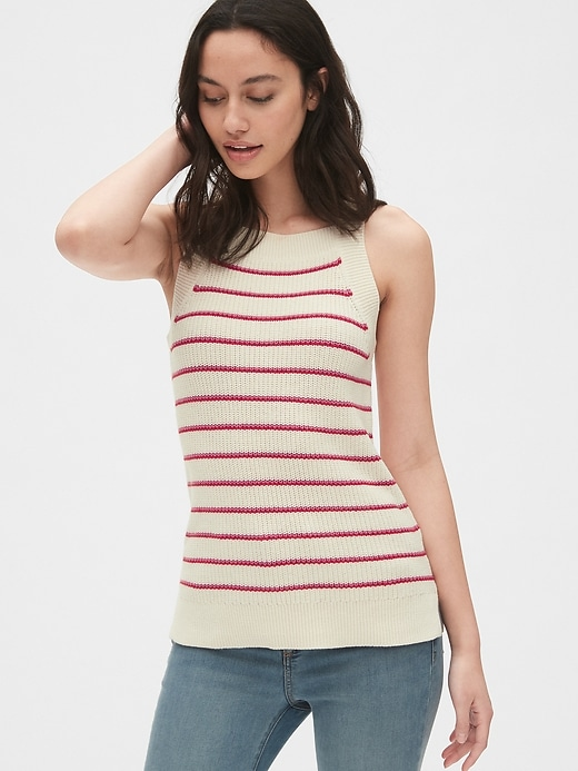 Square-Neck Sweater Tank Top
