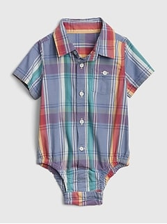 Baby Plaid Bodysuit