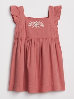 Baby Embroidered Flutter Dress