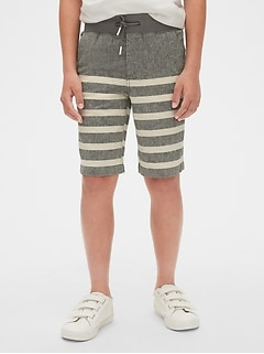 Kids Linen Pull-On Shorts