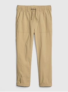 Kids Pull-On Utility Crop Pants