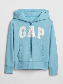 Kids Gap Logo Flippy Sequin Hoodie Sweatshirt
