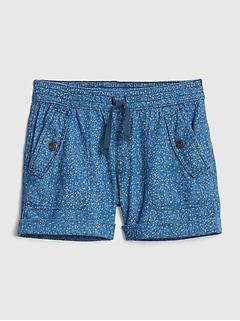 da972eccda Print Denim Pull-On Shorts