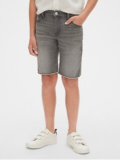 Kids Raw-Hem Denim Shorts