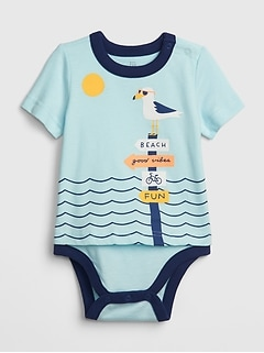 Baby Graphic Short Sleeve Body Double