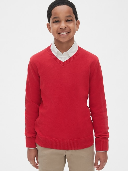 Kids Uniform V-Neck Sweater