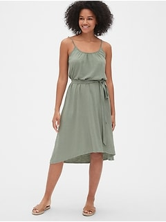 Soft Slub Cami Midi Dress
