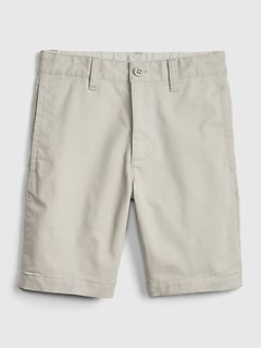 Kids Uniform Khaki Shorts with Gap Shield