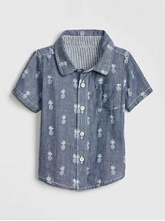 Baby Pineapple Chambray Shirt