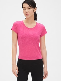 GapFit Breathe Crossover Tie-Back T-Shirt