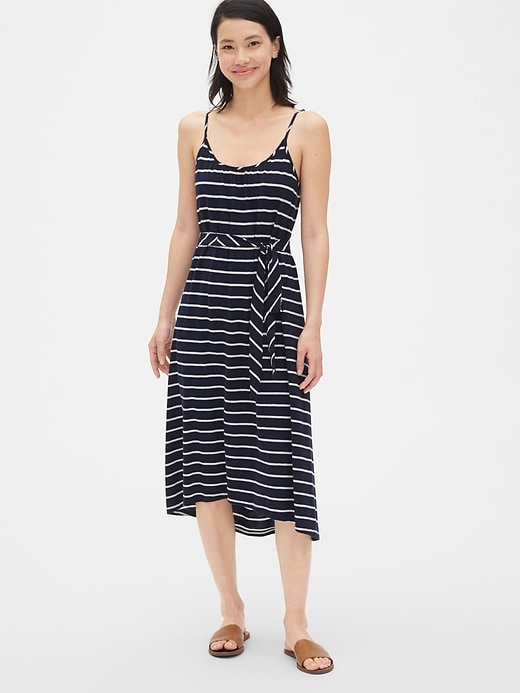 soft-slub-cami-midi-dress by gap