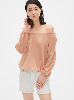 Crinkle Off-Shoulder Top