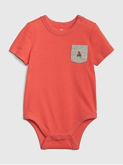 Baby Brannan Bear Pocket Bodysuit