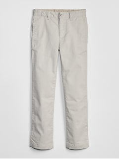 Kids Uniform Straight Khakis with Gap Shield